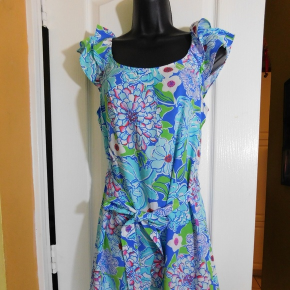 52a34151c653c6 Lilly Pulitzer Dresses | Ruffle Sleeves Dress | Poshmark